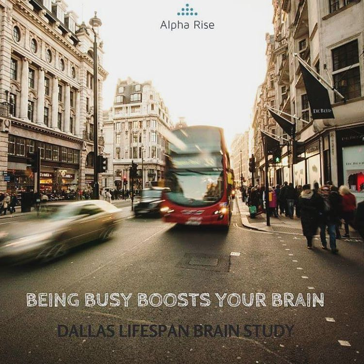 Being busy boosts the brain Alpha Rise Health
