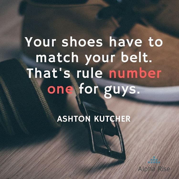 Should Man's Shoes and Belt Always Match? Alpha Rise Health